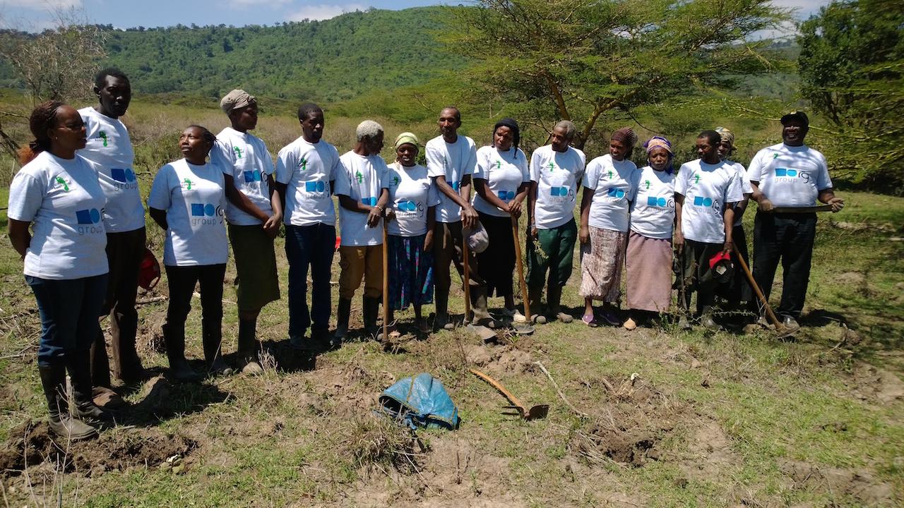 Kenya Team in RG Group tshirts